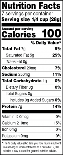 Pizza Blend Nutrition Facts